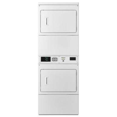 7.4 cu. ft. 120 Volt White Gas Double Stacked Commercial Dryer