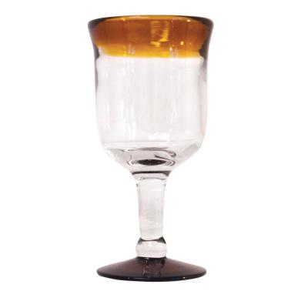 Amber 10 oz. Rim Wine Glass (Set of 4)