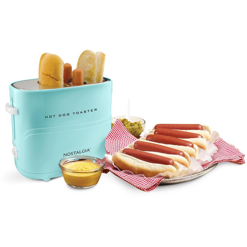 650-Watts 2 Hot Dog Aqua Long Slot Toaster