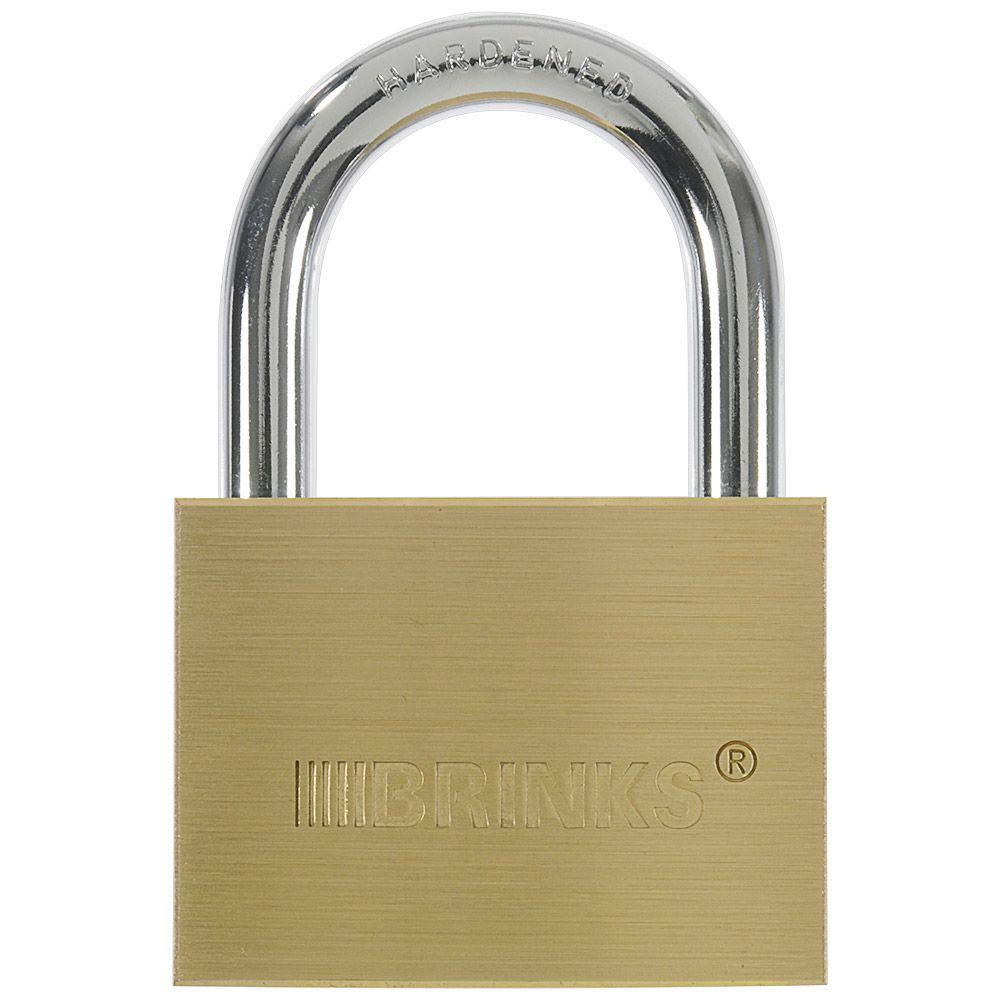 Brinks Home Security 2-3/8 in. (60 mm) Solid Brass Lock