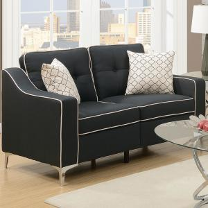Wondrous Venetian Worldwide Campania 2 Piece Black Sofa Set Polyfiber Uwap Interior Chair Design Uwaporg