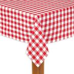 Lintex Buffalo Check 60 in. x 104 in. Red 100% Cotton Table Cloth for Any Table