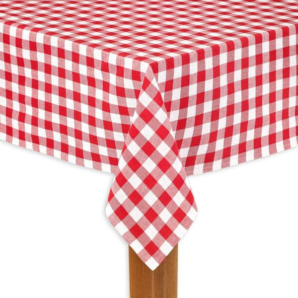 Peachy Buffalo Check 60 In X 104 In Red 100 Cotton Table Cloth For Any Table Home Interior And Landscaping Ponolsignezvosmurscom