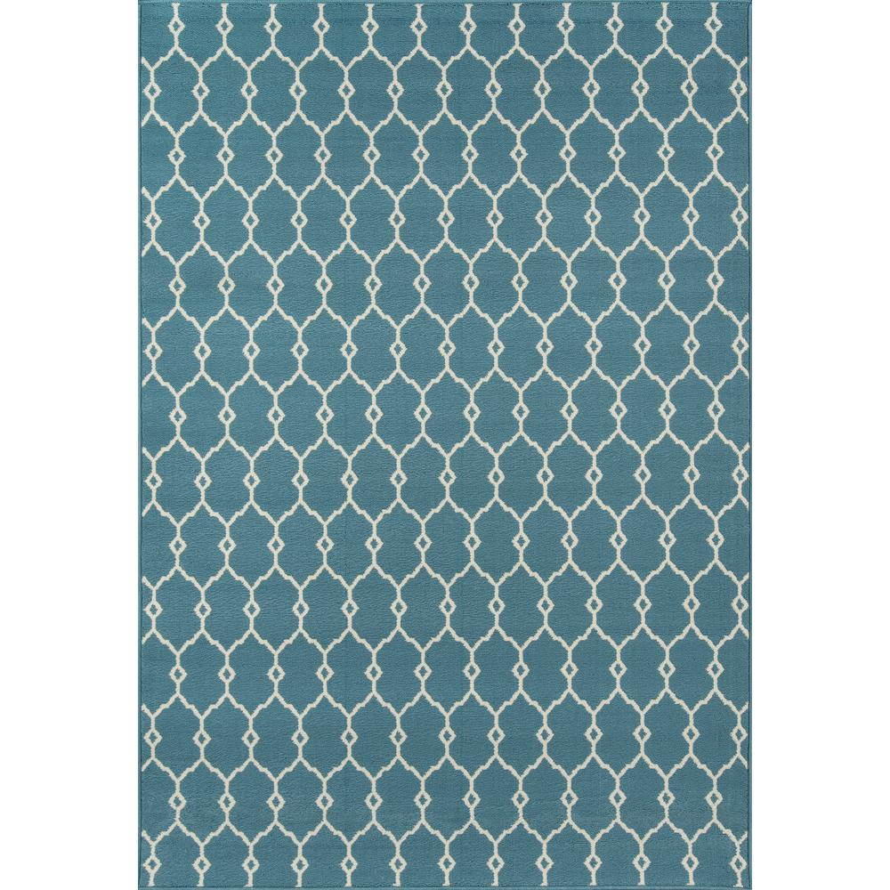 Baja Blue 2 ft. x 5 ft. Indoor/Outdoor Area Rug
