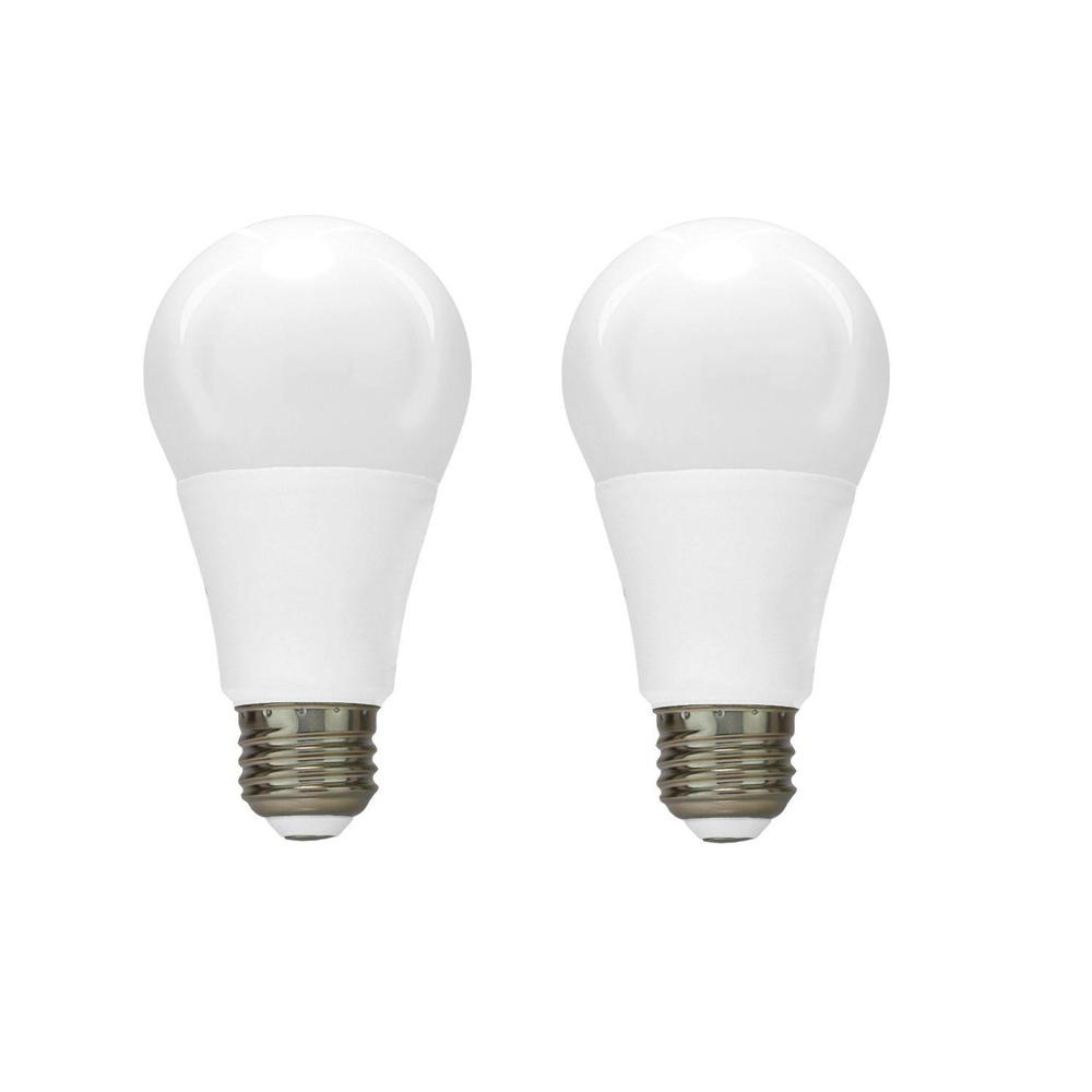 Euri Lighting 60W Equivalent Warm White A19 Dimmable LED Light Bulb (2-Pack)