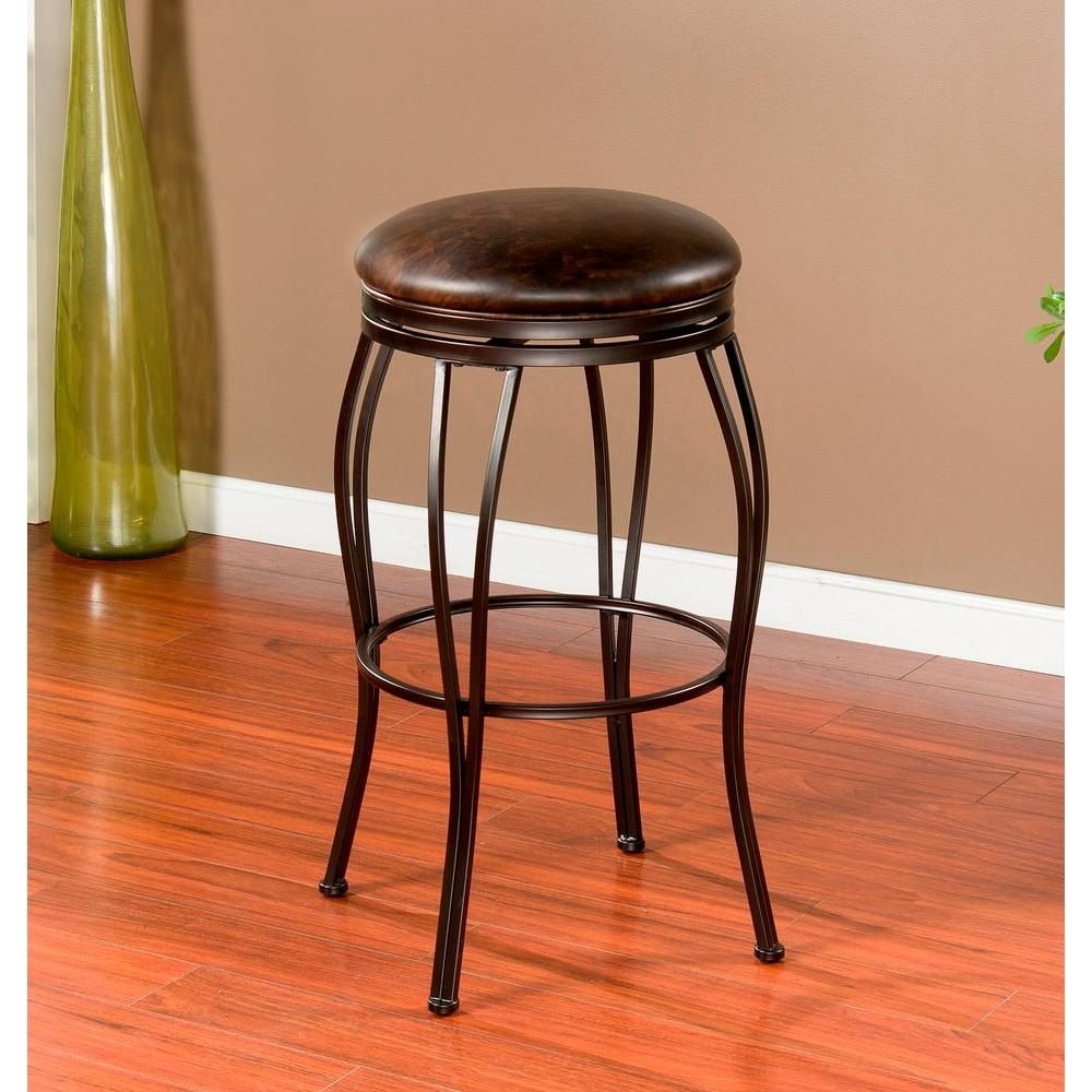 American Heritage Romano 30 in. Coco Cushioned Bar Stool