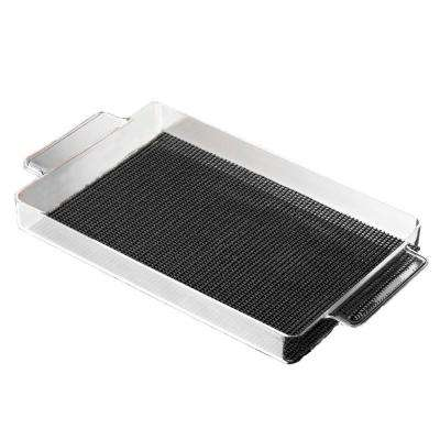 Fishnet Rectangular Serving Tray in Black
