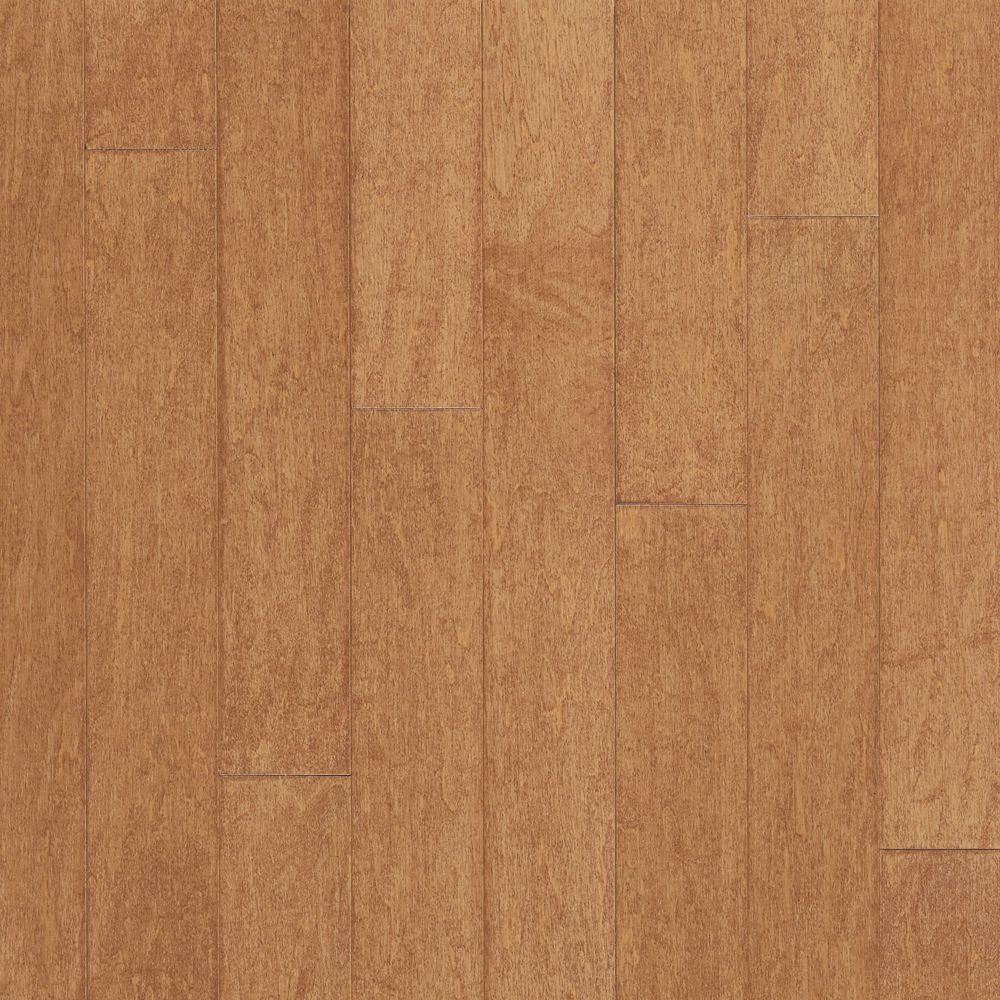 Bruce Take Home Sample - Amaretto Maple Engineered Click Lock Hardwood Flooring - 5 in. x 7 in.