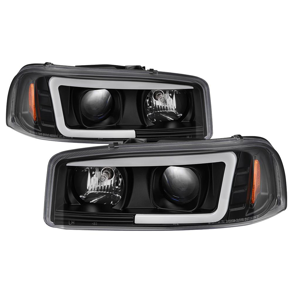 spyder auto gmc sierra 1500 2500 3500 99 06 gmc sierra denali 02 07 projector headlights light bar drl black 5084521 the home depot spyder auto gmc sierra 1500 2500 3500 99 06 gmc sierra denali 02 07 projector headlights light bar drl black