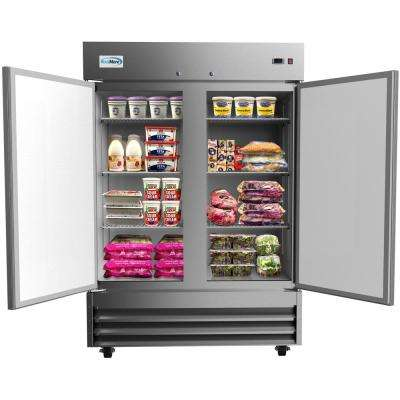 54 in. 47 cu. ft. Commercial 2-Door Reach In Refrigerator in Stainless Steel
