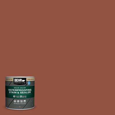 8 oz. #SC-130 California Rustic Solid Color Waterproofing Exterior Wood Stain and Sealer Sample