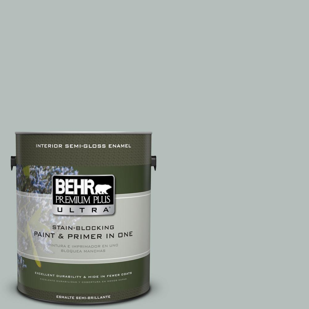 BEHR Premium Plus Ultra Home Decorators Collection 1-gal. #HDC-NT-25 Dew Semi-Gloss Enamel Interior Paint