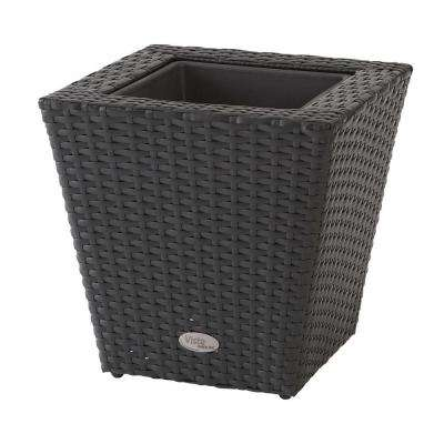 Vista 14 in. Square Resin Wicker Planter
