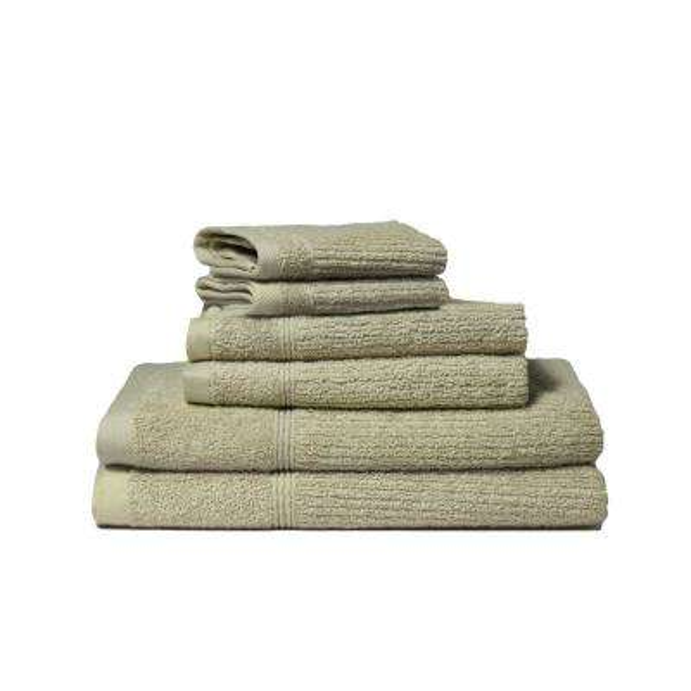 Donna 6-Piece 100% Cotton Bath Towel Set in Verde