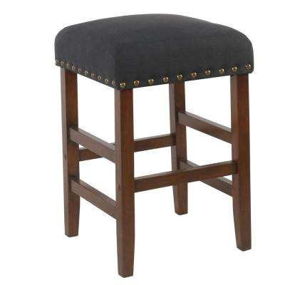 Open Backless 24 in. Grey Bar Stool