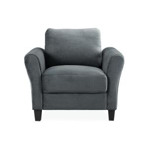 Black Leather Accent Chairs For Bariatric.Osp Home Furnishings Davis Klein Otter Fabric Arm Chair Dvs51 K12