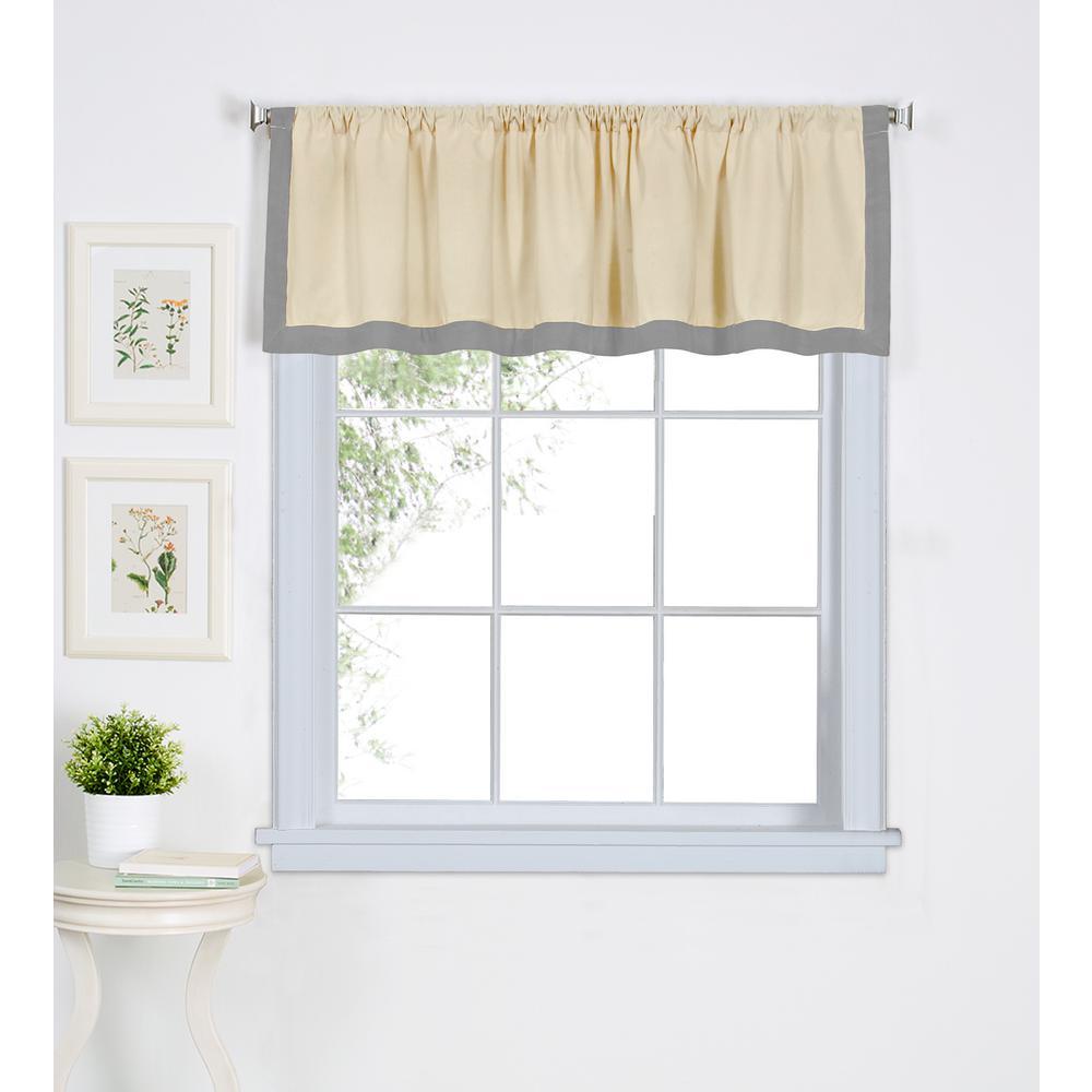 gray window valance rod pocket wilton gray window scarves valances treatments the home depot