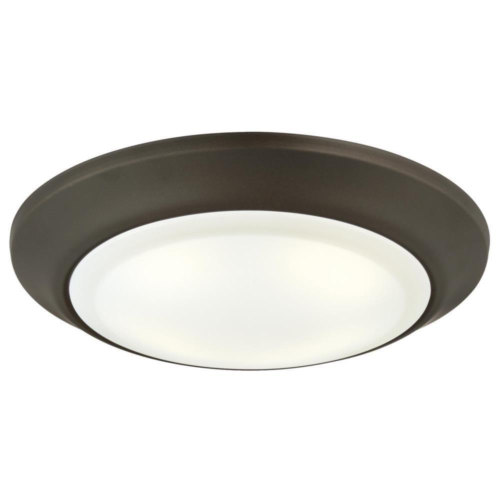 15-Watt Oil Rubbed Bronze Indoor/Outdoor Integrated LED Flush Mount