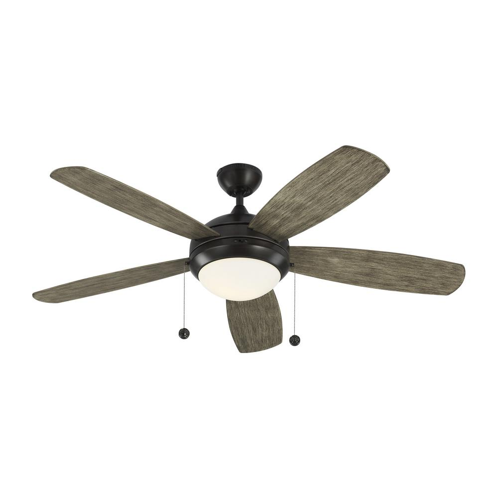 Discus 52 in. Indoor Aged Pewter Ceiling Fan