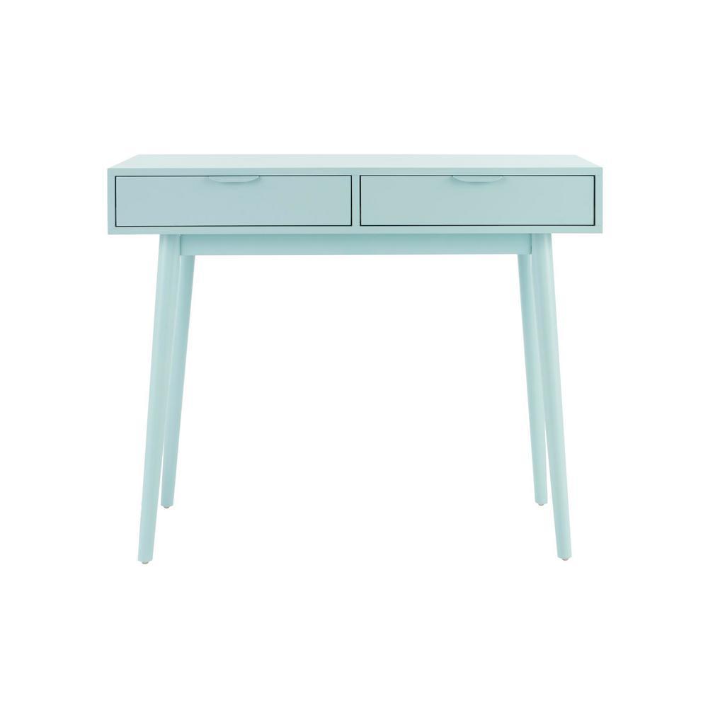 Amerlin Seafoam Wood Vanity Desk (39.37 in W. X 31.50 in H.)