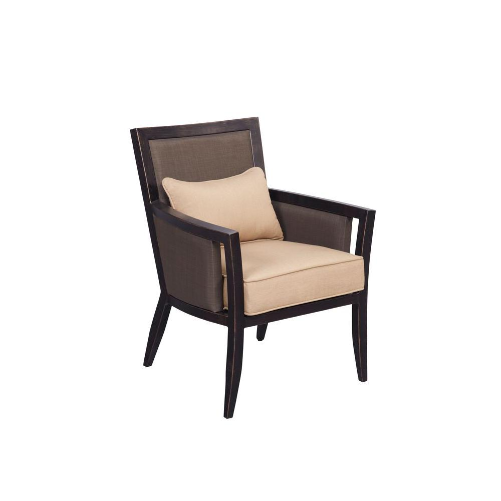 Brown Jordan Greystone Patio Dining Chair With Harvest Cushions (2 Pack)