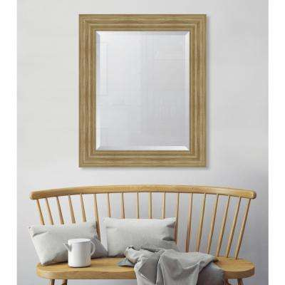 30 in. x 36 in. Framed 4 in. Natural English Pine Resin Frame Mirror