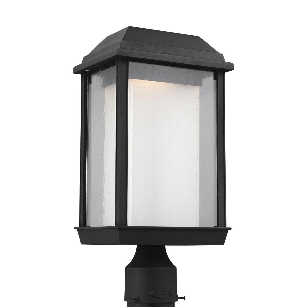 McHenry 1-Light Outdoor Textured Black Integrated LED Post Light