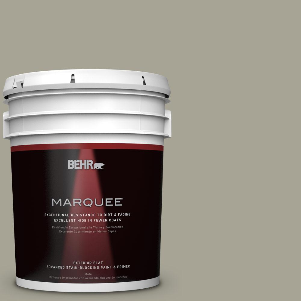 BEHR MARQUEE Home Decorators Collection 5-gal. #HDC-NT-01 Woodland Sage Flat Exterior Paint