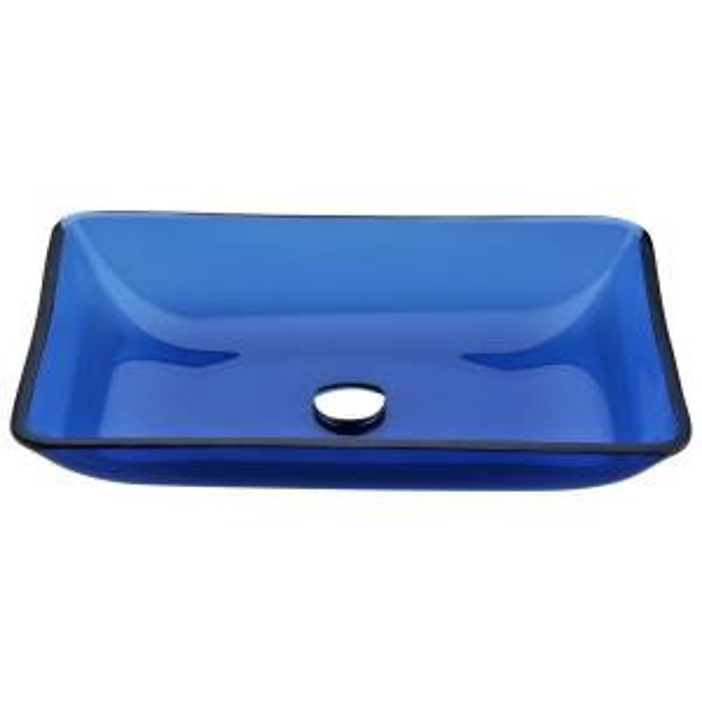 ANZZI Harmony Series Deco-Glass Vessel Sink in Cloud Blue by ANZZI