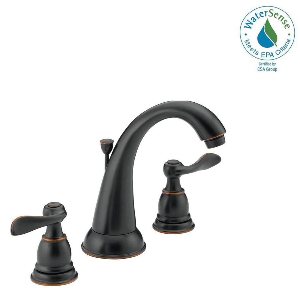 Windemere 8 In. Widespread 2 Handle Bathroom Faucet With Metal Drain  Assembly In Oil. Chrome; Oil Rubbed Bronze ...