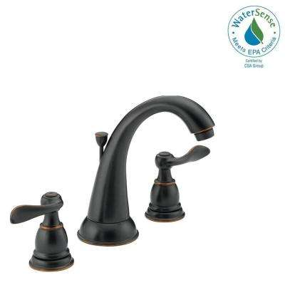 Windemere 8 in. Widespread 2-Handle Bathroom Faucet with Metal Drain Assembly in Oil-Rubbed Bronze