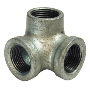 3/4 in. Galvanized Malleable Iron 90 Degree Elbow with Side Outlet