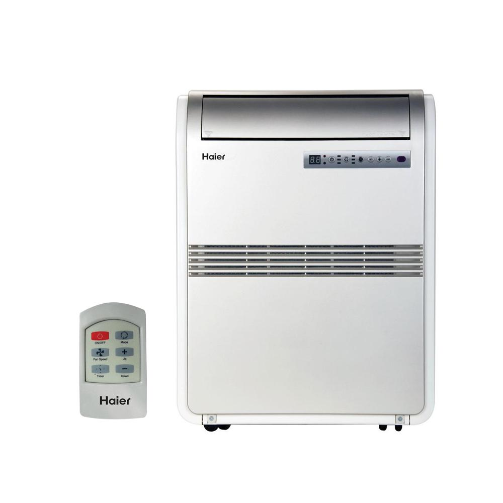 Haier 8,000 BTU 250 sq  ft  Cool Only Portable Air Conditioner with  70-Pint/Day Dehumidification Mode and LCD Remote Control