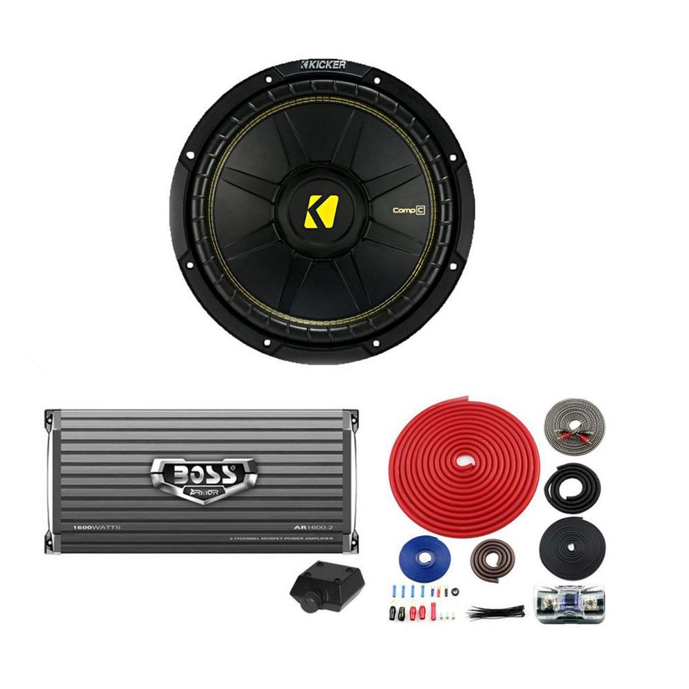 Boss AR1600.2 1600-Watt 2-Channel Car Audio Amplifier Power Amp + Remote AR16002