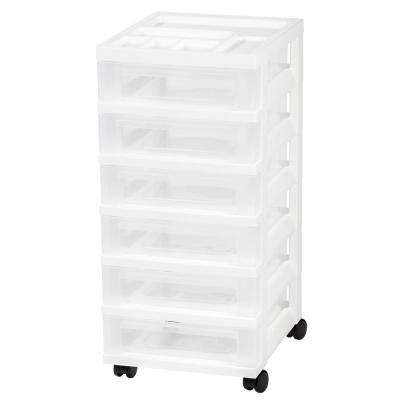 68 Qt. 6-Drawer Storage Bin in White