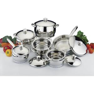 BergHOFF Cosmo 12-Piece 18/10 Stainless Steel Cookware Set with Lids by BergHOFF