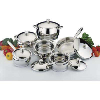 Cosmo 12-Piece 18/10 Stainless Steel Cookware Set with Lids