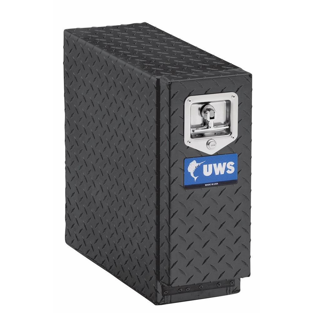 18 in. Aluminum Black Chest Drawer Slide Box