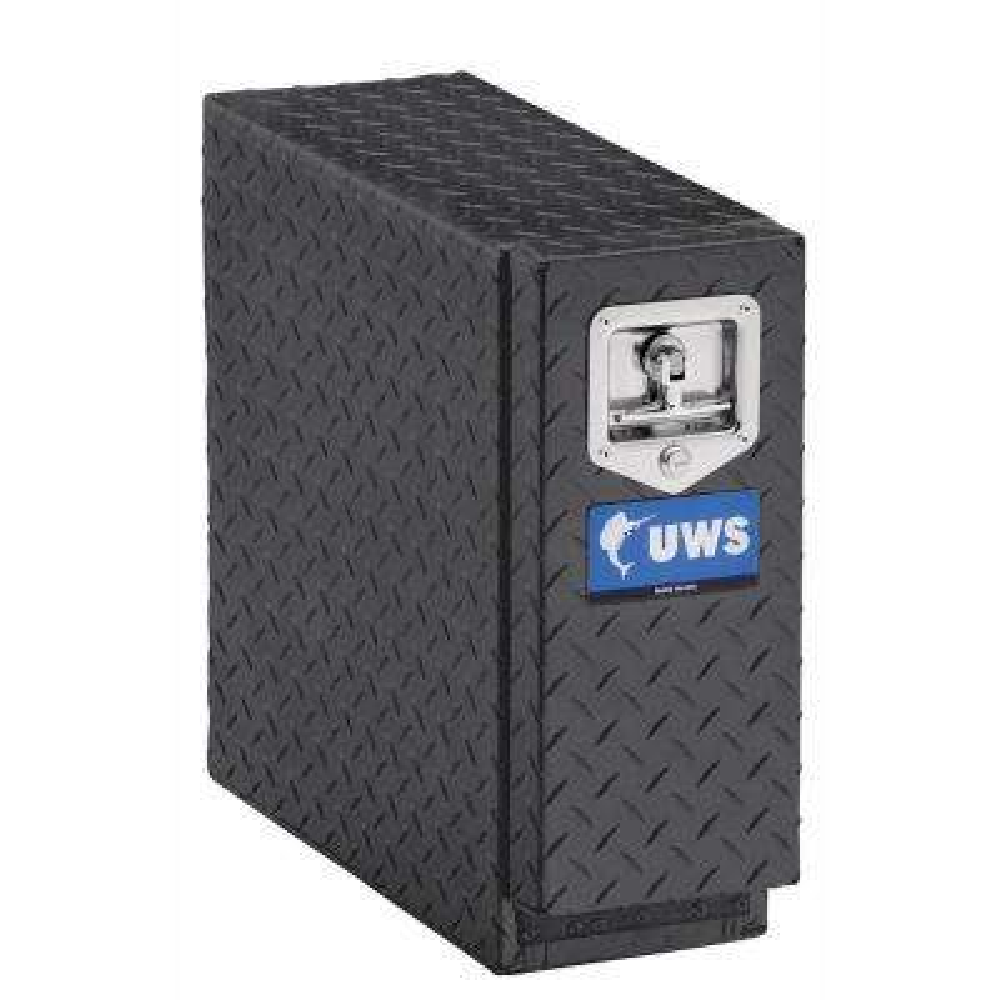 22 in. Aluminum Black Chest Drawer Slide Box