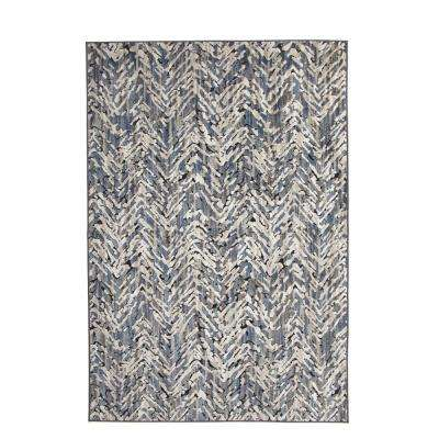 Napa Haldis Blue/Ivory/Natural 8 ft. x 11 ft. Area Rug