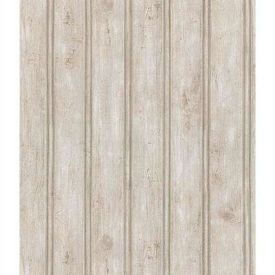 Northwoods Lodge Gray Beadboard Wallpaper Sample