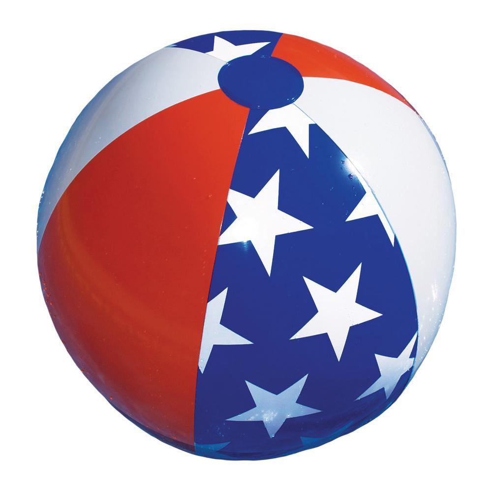 22 in. Stars and Stripes Americana Beach Ball