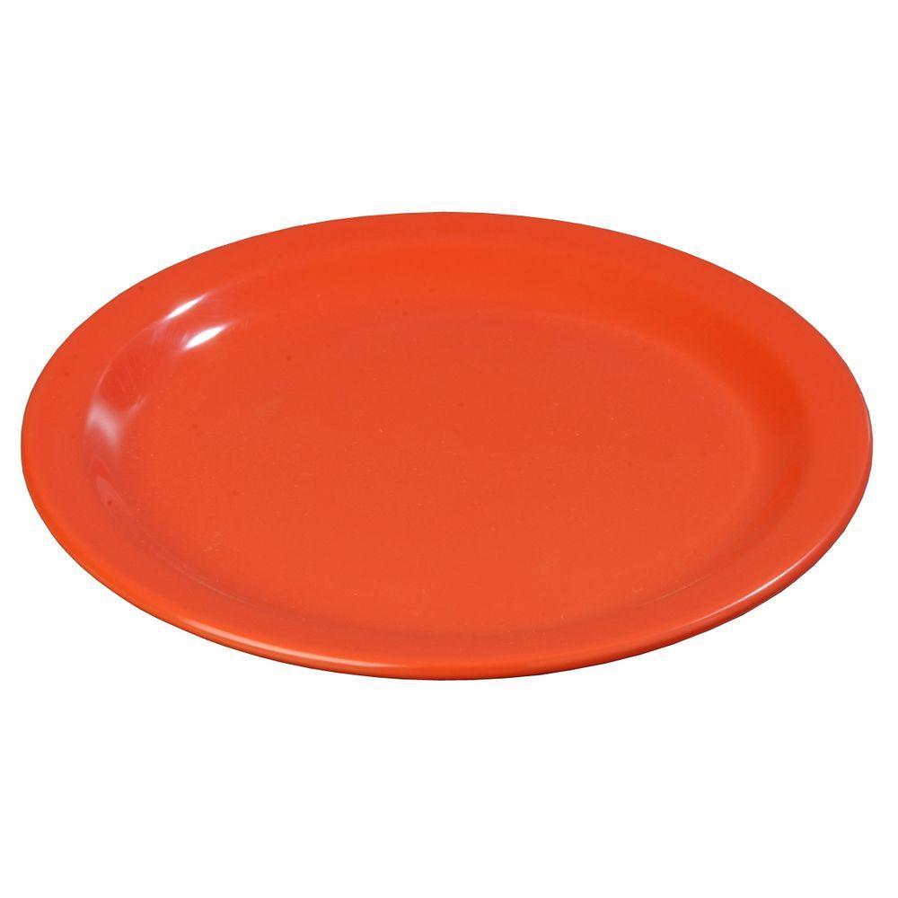 9 in. Diameter Melamine Dinner Plate in Sunset Orange (Case of 48)