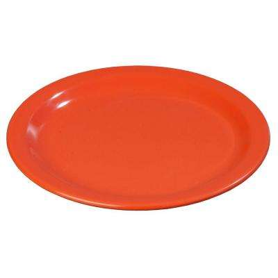 9 in. Diameter Melamine Dinner Plate in Sunset Orange (Case of 48)
