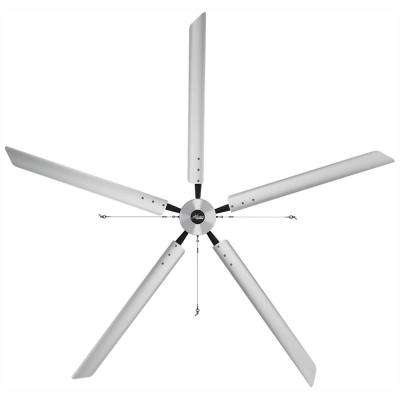 Titan 14 ft. 220-Volt Indoor Anodized Aluminum Single Phase Commercial Ceiling Fan