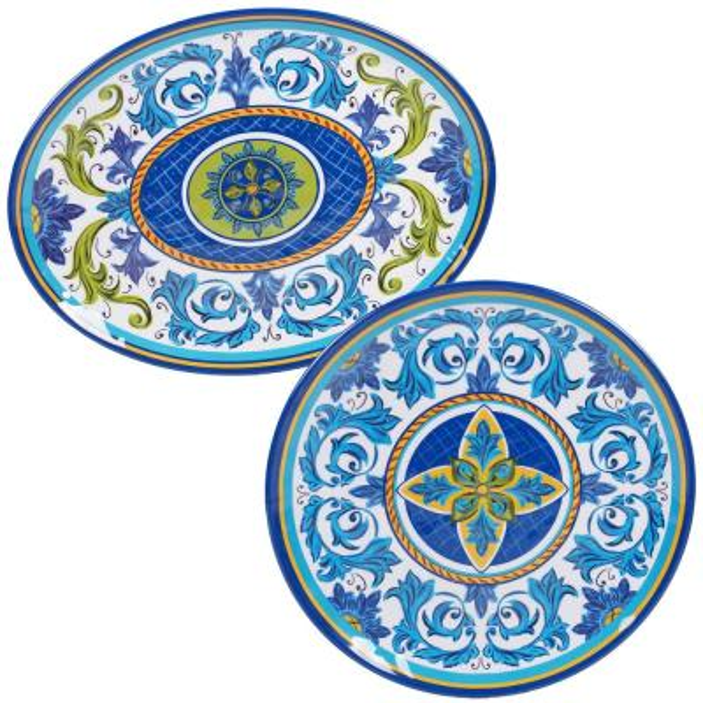 Lucca 2-Piece Melanine Platter Set