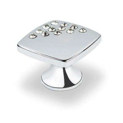 Swarovski Crystal Collection 1 in. Chrome Cabinet Knob