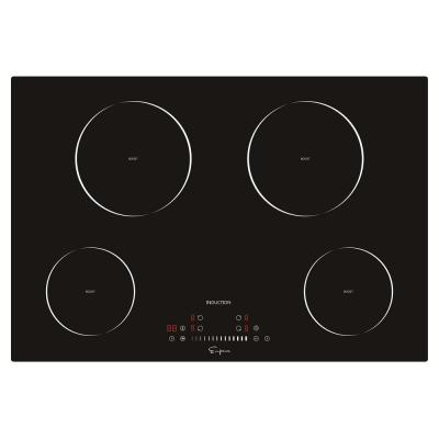 30 in. Electric Stove Induction Cooktop Smooth Surface in Black Vitro Ceramic Glass with 4 Elements Booster Burner