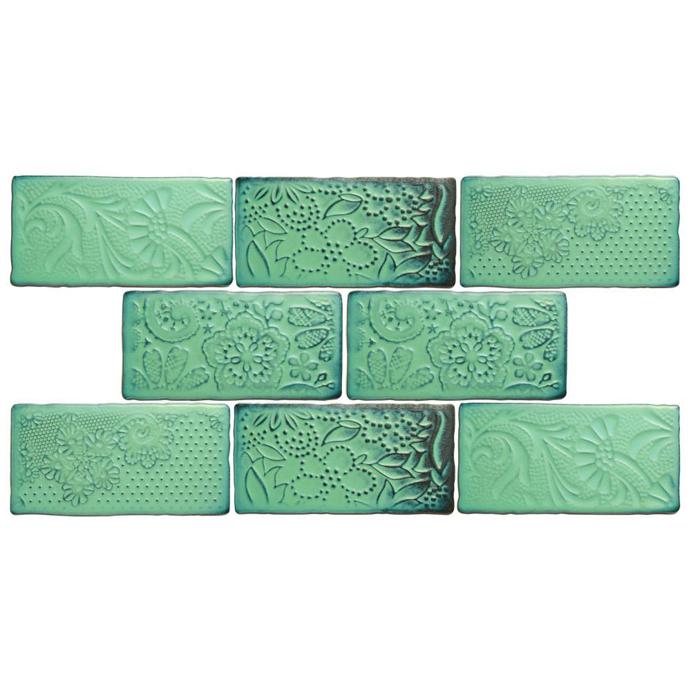 Merola Tile Antic Feelings Lava Verde 3 In X 6 In