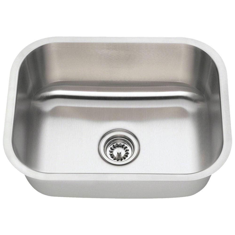 Mr Direct Undermount Stainless Steel 23 In Single Bowl